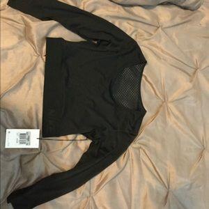 Black NIKE long sleeve crop workout shirt